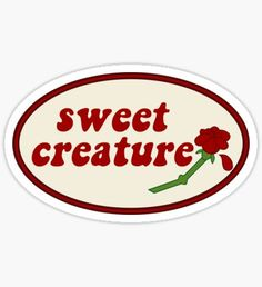 """""""Sweet Creature Rose Design"""" Stickers by livstuff Meme Stickers, Tumblr Stickers, Cool Stickers, Printable Stickers, Laptop Stickers, Retro Wallpaper, Aesthetic Iphone Wallpaper, Desenho Harry Styles, Red Bubble Stickers"""