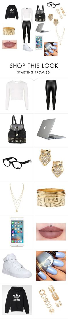 """bad girl"" by natashaasante on Polyvore featuring Topshop, Studio, Speck, Ray-Ban, Kate Spade, Charlotte Russe, NIKE, adidas and Forever 21"