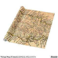 Vintage Map of Jamaica (1771) Wrapping Paper