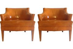 Leather Club Chairs, Pair on OneKingsLane.com