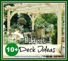 "20+ Ideas for ""Deck-orating"" Your Back Deck on a Budget!"