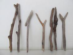 "7 Straight & Odd Shaped Driftwood Sticks. Bulk Driftwood For Crafting. 9-12"" Drift Wood Pieces DIY Driftwood Art by LonelyBeach on Etsy"