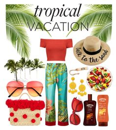 """Vacation"" by rebeccapro ❤ liked on Polyvore featuring F.R.S For Restless Sleepers, Alice + Olivia, Nannacay, Humble Chic and Madewell"