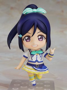 """""""Let's...hug?""""From the popular anime series Love Live! Sunshine!! comes a Nendoroid of the Aqours member Kanan Matsuura wearing her outfit from the song """"Aozora Jumping Heart""""! She comes with both a cheerful face plate as well as an embarrassed face plate for when others make fun of her! A selection of different parts are also included which allow you to pose her in differe... #tokyootakumode #figure #Love_Live_Series"""