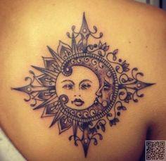 24. #Sonne in den Mond - Du wirst #nicht glauben, #diese 32 atemberaubende #Celestial Tattoos... → #Beauty