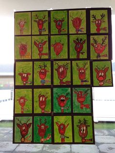 Christmas art ideas, holiday art lesson, reindeer art lesson, holiday bulletin boards, how to draw a reindeer Christmas Crafts For Kids, Christmas Art, Winter Christmas, Holiday Crafts, Holiday Bulletin Boards, Holiday Ornaments, Christmas Decorations, Reindeer Craft, Diy Letters
