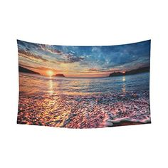 InterestPrint Seaside Beach Decor Collection, Beautiful Sunrise Wall Hanging Tapestry - Beachfront Decor