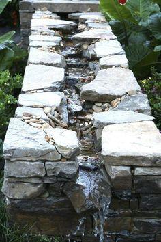 Ponds Backyard, Backyard Landscaping, Landscaping Ideas, Waterfall Landscaping, Backyard Waterfalls, Backyard Patio, Natural Landscaping, Garden Ponds, Koi Ponds