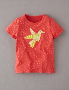 I've spotted this @BodenClothing Origami Appliqué T-shirt Sizzle Red/Bird