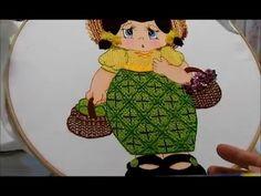 Puntada fantasia niña tuna (nopal) - YouTube