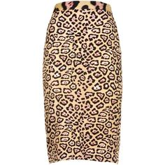 Givenchy Leopard Print Skirt (1,735 PEN) ❤ liked on Polyvore featuring skirts, beige, leopard skirt, givenchy, straight skirt, leopard print skirt and givenchy skirt
