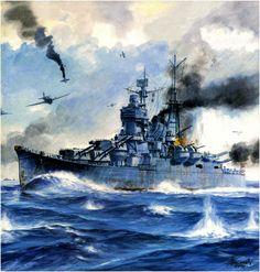 Crucero Suzuya 1934, hundido en el Golfo de Leyte 1944 (1)