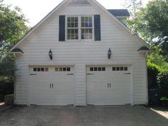 Two Single Steel Carriage House Garage Doors