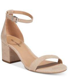 Call It Spring Stangarone Two-Piece Block-Heel Sandals #tananklestrapsheels