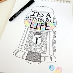 Drawing quote, wonderful world Words to remember . Pretty Drawings, Love Drawings, Animal Drawings, Art Drawings, Drawing Quotes, Book Drawing, Drawing Ideas, Puzzle Drawing, Miraculous