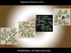 Romantic Painting Abstract Painting Landscape by QiQiGallery, $225.00