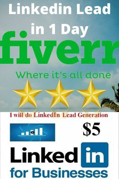 Fiverr freelancer will provide Lead Generation services and do lead generation for your targeted business including Leads Included within 1 day Social Media Research, Web Research, Content Marketing, Social Media Marketing, Linkedin Search, Collection Manager, Executive Decision, Time Management Skills, Motivation Success