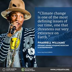 Pharrell Williams sees opportunity in the challenge of climate change - he's urging leaders to create green jobs today.