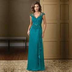 Long Dark Green Plus Size Groom Mothers Wedding Party Dresses With Short Sleeves Lace Appliques Vestidos Madre De La Novia 2016