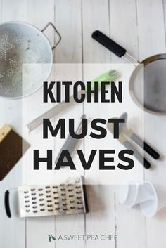 Here are ASPC's Kitchen Must Haves - all my recommended best kitchen tools and essentials. Kitchen Items, Kitchen Gadgets, Kitchen Appliances, Kitchen Tools, White Appliances, Kitchen Hacks, Kitchen Helper, Chef Kitchen, Cake