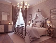 Crown bed canopy - If you love the look of a canopy bed but lacks a canopy bed, a bed crown solution. A bed crown resembles a cornice box for a window; Romantic Master Bedroom, Beautiful Bedrooms, Dream Bedroom, Home Bedroom, Modern Bedroom, Bedroom Ideas, Bedroom Designs, Bedroom Furniture, Bed Ideas