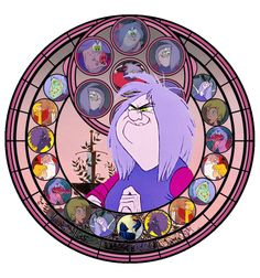 Stained Glass Madam Mim by ~IlSelma on deviantART