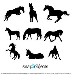 9 Horse Silhouettes Vector free to use. Hope you will find them  useful in your…