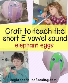 Phonics Vowel Sounds:  Craft and activity to teach the short letter e sound.  Great for kindergarten or preschool.