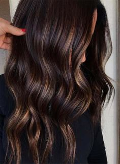 Long Wavy Ash-Brown Balayage - 20 Light Brown Hair Color Ideas for Your New Look - The Trending Hairstyle Brown Hair Shades, Brown Ombre Hair, Brown Hair Balayage, Brown Blonde Hair, Light Brown Hair, Brown Hair Colors, Dark Hair, Chocolate Brown Highlights, Chocolate Brown Hair With Highlights