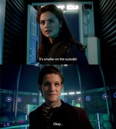 That's different.     This was my favorite quote from the Christmas special, and there were some pretty great parts.