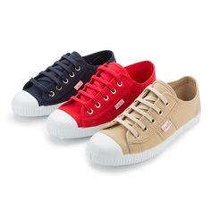 Zapatillas Lona Punta Goma Con Cordones - Zapatilla de lona para los chicos más mayores, en colores vivos y perfectas para primavera. #ténis #trainers #tennis