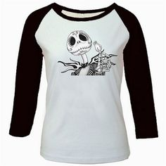 Sugar Skull Jack Raglan Shirt by Threads of the Dead