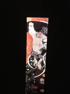 "Gustav Klimt ""Salome (Judith II) "" Austrian Art Nouveau 35mm Glass Art Slide  