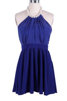 Vestido gasa perlas cuello-EUR€22.75