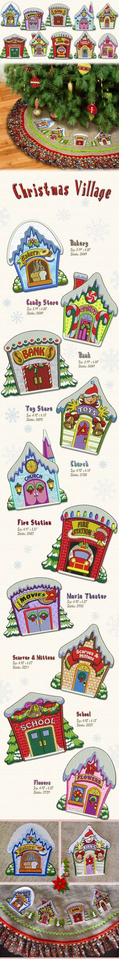 Beautiful Vintage Village Christmas designs, they are greatfor a Christmas…