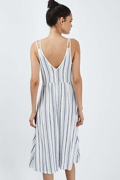 Striped Sundress - Topshop