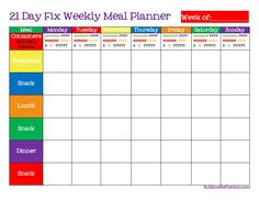 21 Day Fix Meal Plan