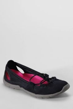 Women's Everyday Bungee Ballet Shoes from Lands' End, these are so cute and look comfy come in other colors too : )