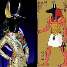 Christian Dior Couture Spring 2004 inspired by God Anubis.