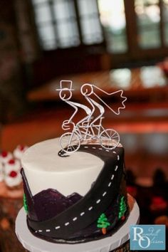 Wedding cake topper. Bicycle built for two, Bike wedding...my renewing vow cake topper
