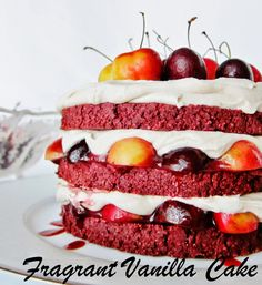 Raw Black Forest Cake from Fragrant Vanilla Cake