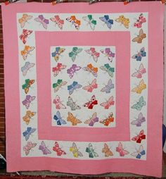 Beautiful antique butterfly quilt. 30's fabrics