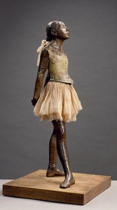 1881 sculpture by Edgar Degas of a young student of the Paris Opera Ballet dance school named Marie van Goethem. Edgar Degas, Rodin, Camille Claudel, National Gallery Of Art, History For Kids, Art History, History Major, History Memes, History Facts