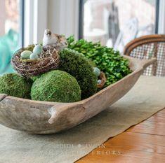 Antique European Dough Bowl Trencher Carved Wood by edithandevelyn Wooden Dough Bowl, Wood Bowls, Sugar Mold, Bread Bowls, Bowl Fillers, Table Centerpieces, Table Arrangements, Centerpiece Ideas, Flower Arrangements