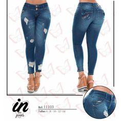 vaquero Levanta Cola Con Rotos Sexy Jeans, Skinny Jeans, Color Azul, Skirts, Pants, Mini, Style, Fashion, Flare Leg Jeans