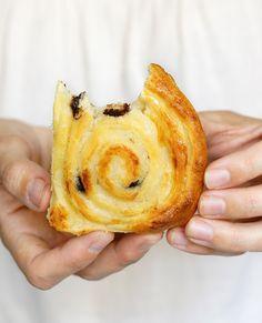 Caracolas de crema pastelera. Hechas con la masa para croisant de lidl