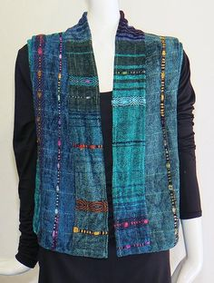 Nancy Paap creates all of her wovens in her studio in Tesuque, NM Clothing Patterns, Sewing Patterns, Vest Pattern, Vintage Textiles, Sewing Clothes, Dressmaking, Sewing Hacks, Hand Weaving, Birthday Quotes