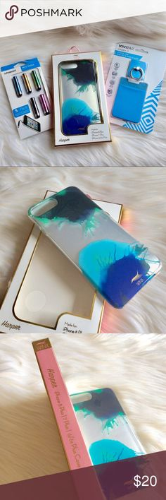 Winx Harper iPhone Plus Case and Accessories Splash up the IPhone with the Winx Harper Case for the 8 Plus|7 Plus|6/6s Plus Phone, 1 mini stylus and a Vivitar Carry It (stick on wallet & ring stand ) 🦋💎💙🖌 New🍭 Winx Accessories Phone Cases