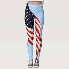 Shop American Flag Blue Sky Patriotic Leggings created by Personalize it with photos & text or purchase as is! Photography Gifts, American Flag, Yoga Pants, Pajama Pants, Leggings, Gift Ideas, Holidays, Pattern, Red