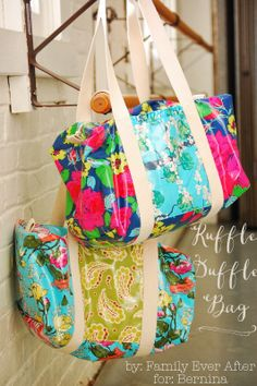 Family Ever After.... Ruffle Duffle Bag (her own pattern and free tutorial)!!!